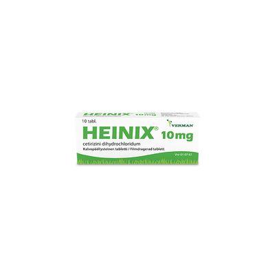 HEINIX 10 mg tabl, kalvopääll 10 fol