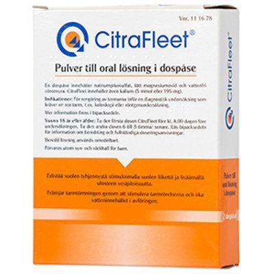 CITRAFLEET jauhe oraaliliuosta varten, annospussi 2 kpl