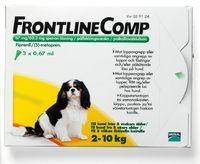 FRONTLINE COMP 67/60,3 mg vet paikallisvaleluliuos (koirille)3x0,67 ml