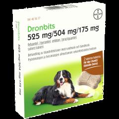 DRONBITS 525/504/175 mg vet tabl 2 fol